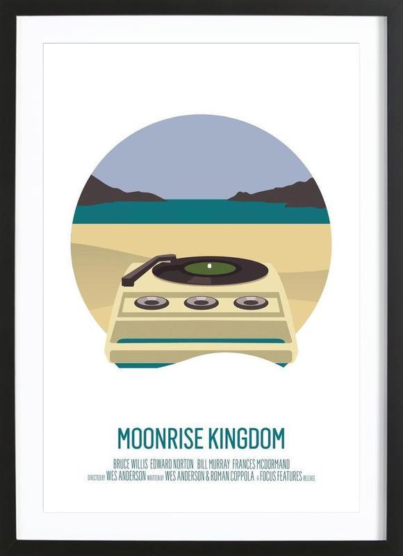 Moonrise Kingdom -Bild mit Holzrahmen