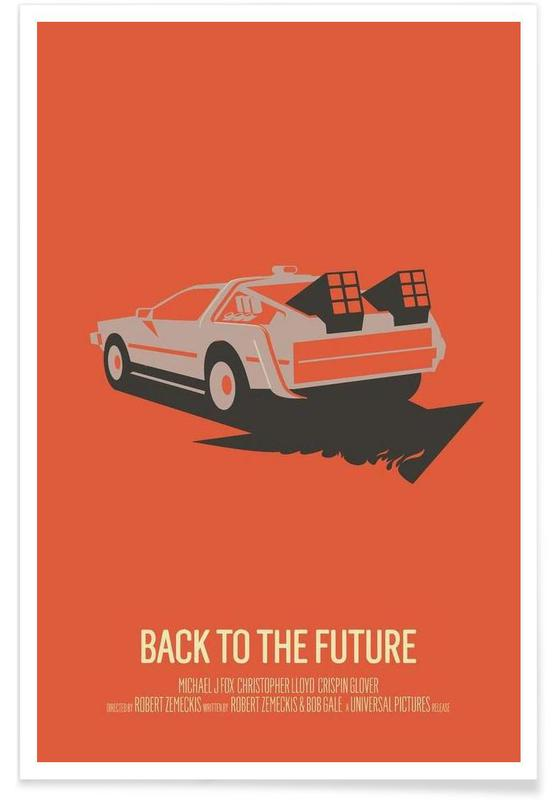 Back to the Future 2 - minimalistisch poster