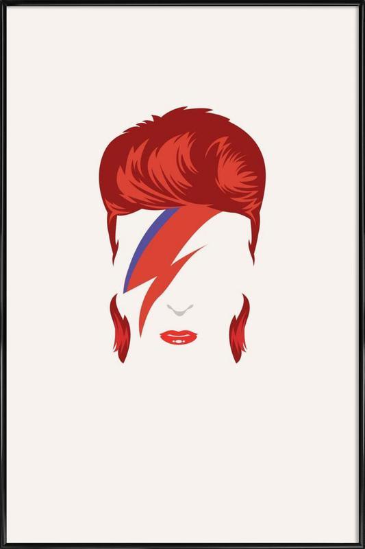 Bowie ingelijste poster