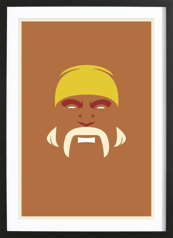 Hogan ingelijste print
