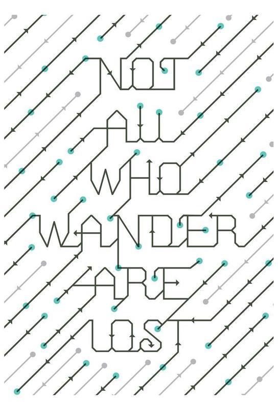 Not All Who Wander -Acrylglasbild