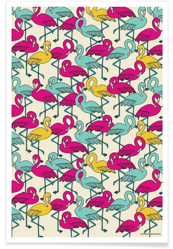 Wrapping Paper Flamingos poster