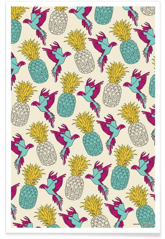 Wrapping Paper Pineapple Poster
