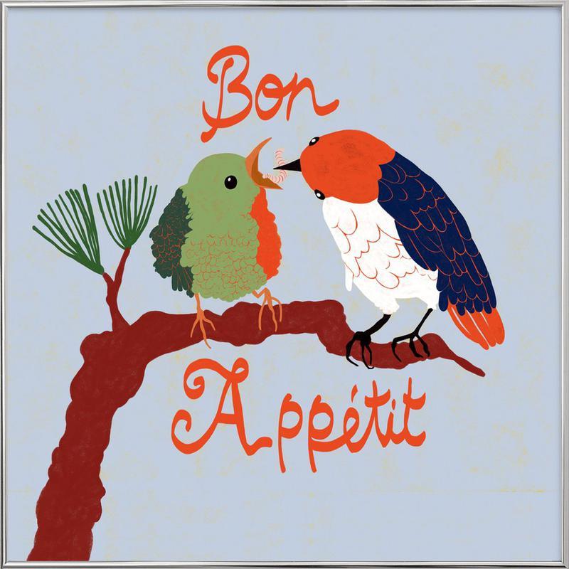 Bon Appétit -Poster im Alurahmen