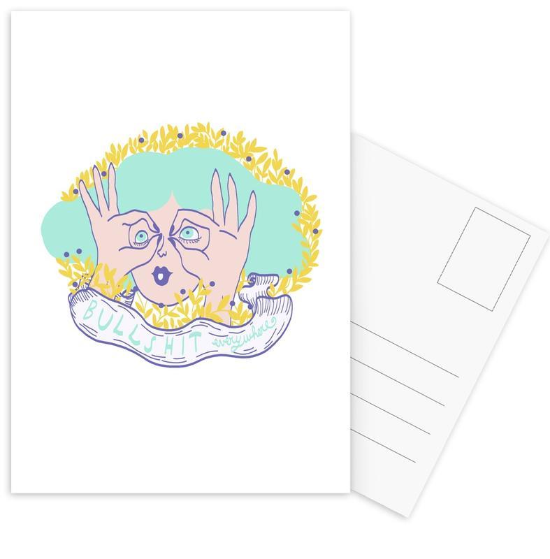 Bullshit -Postkartenset
