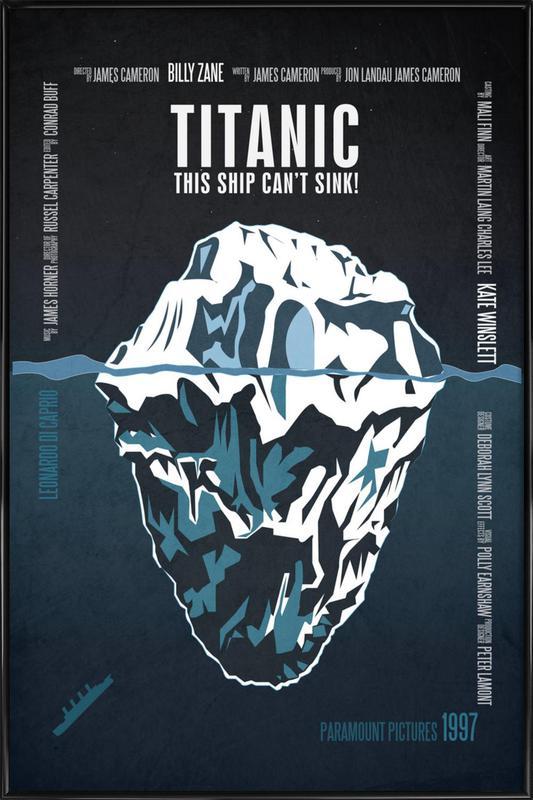 Titanic -Bild mit Kunststoffrahmen