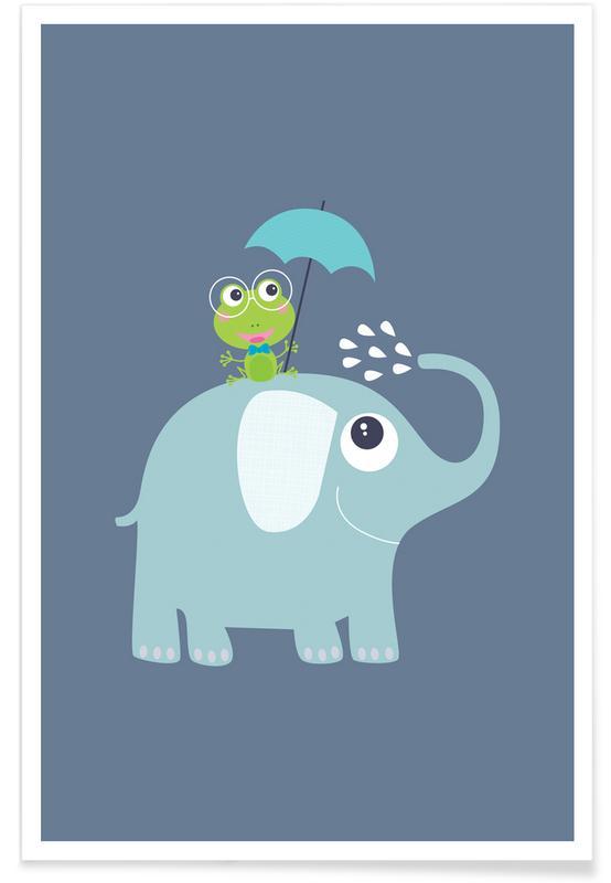 Elephant Frog Poster