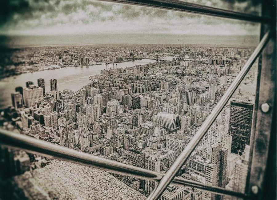 New York From the Empire State building canvas doek