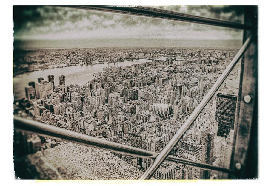 New York From the Empire State building alu dibond