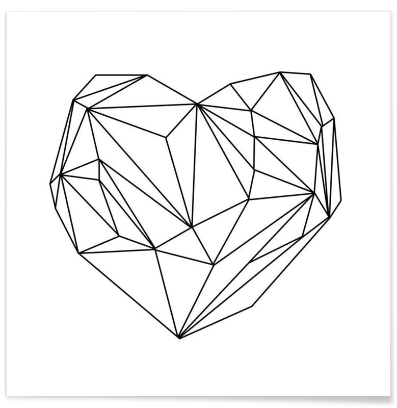 Heart Graphic póster