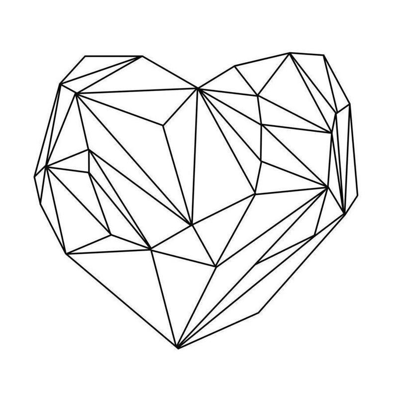 Heart Graphic -Leinwandbild
