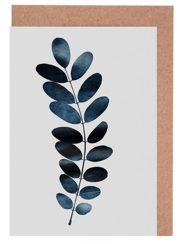 Watercolor Leaves 11 -Grußkarten-Set