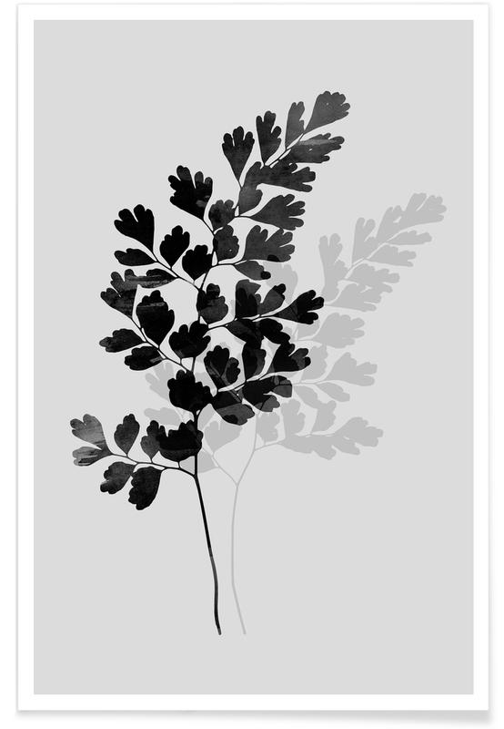 Watercolor Leaves 14 -Poster