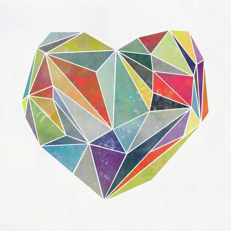 Heart Graphic 5 -Leinwandbild