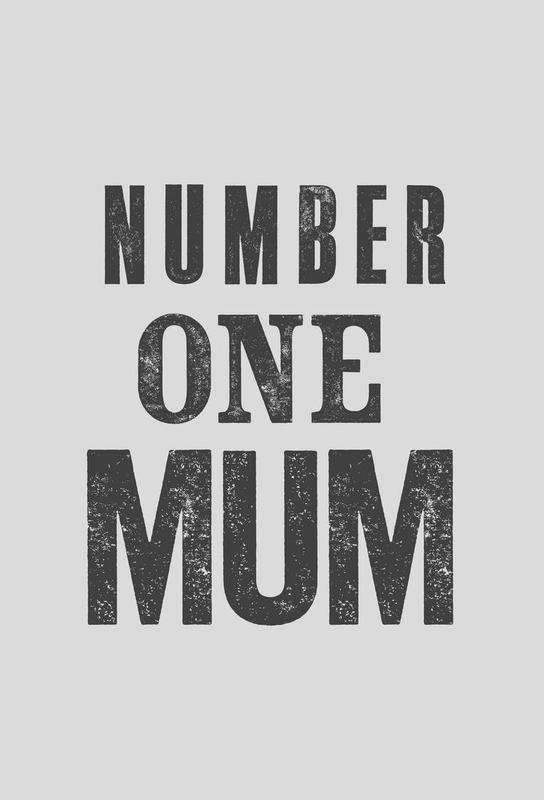 Number One Mum Aluminium Print