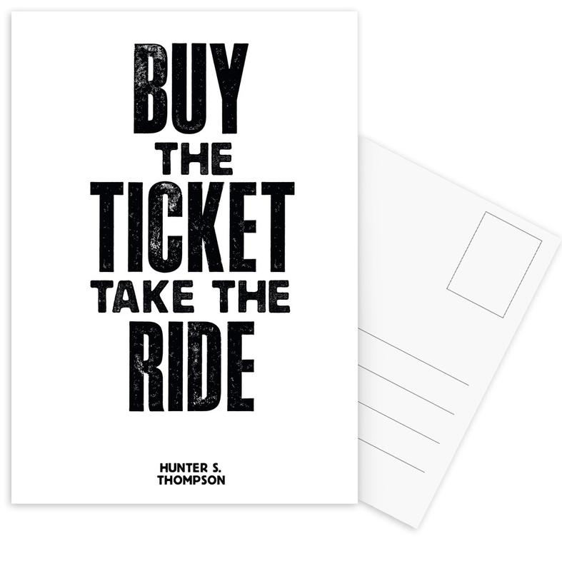 Buy The Ticket Postcard Set