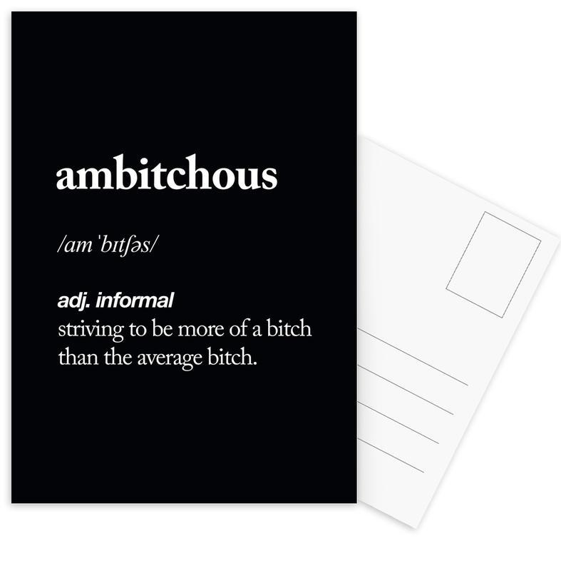 Ambitchous Postcard Set