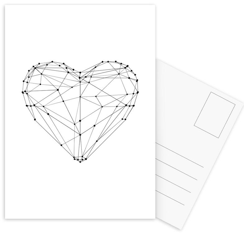 Geo Heart Postcard Set