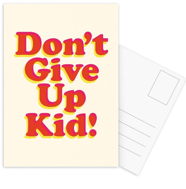 Don't Give Up Kid Postcard Set