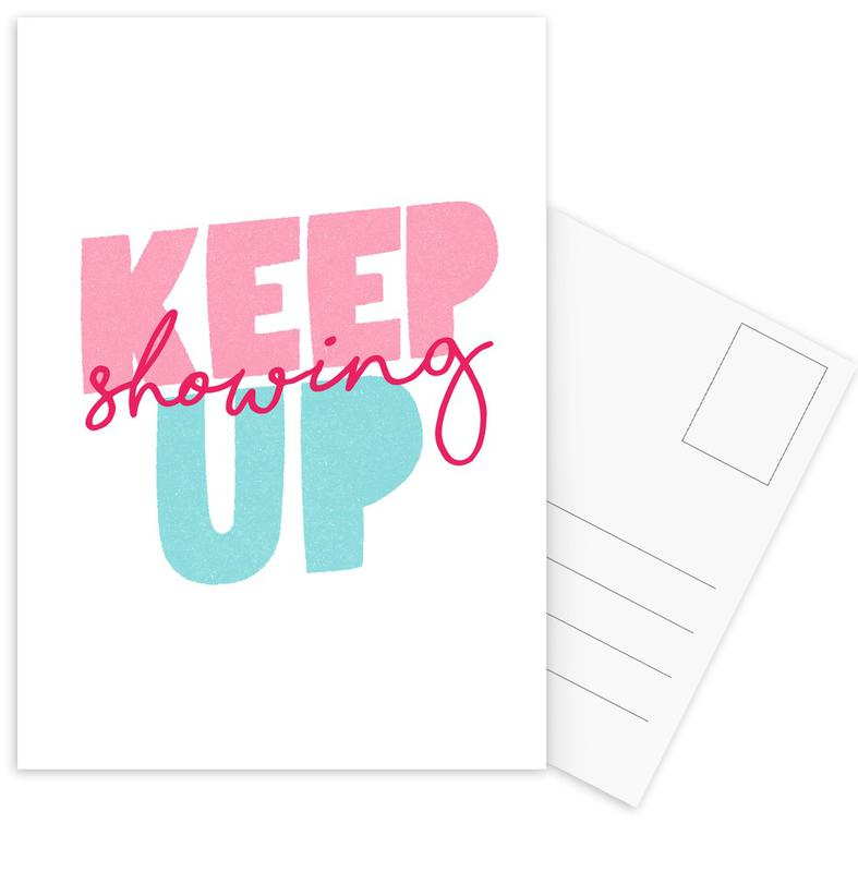 Keep Showing Up Postcard Set
