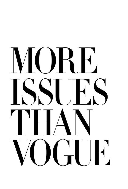 More Issues Than Vogue White Aluminium Print