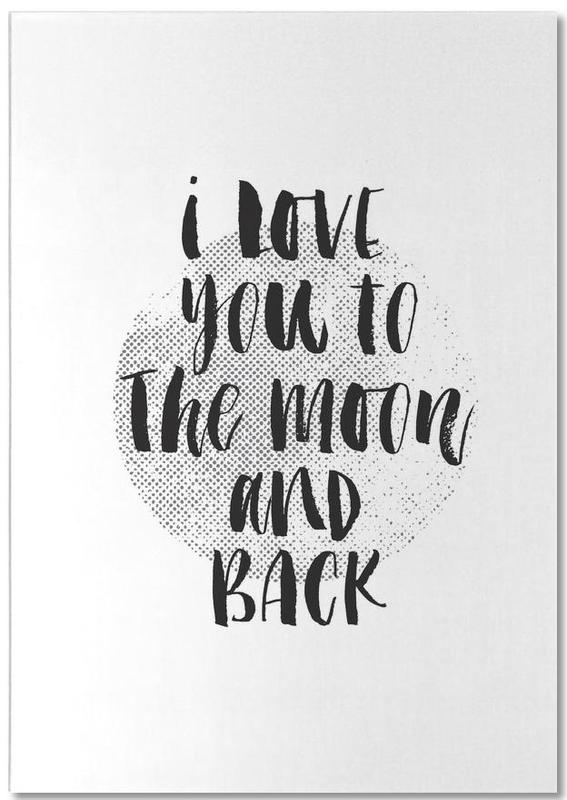 I Love You To The Moon And Back bloc-notes