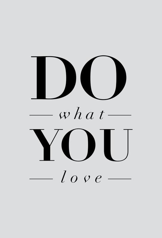 Do What You Love Aluminium Print