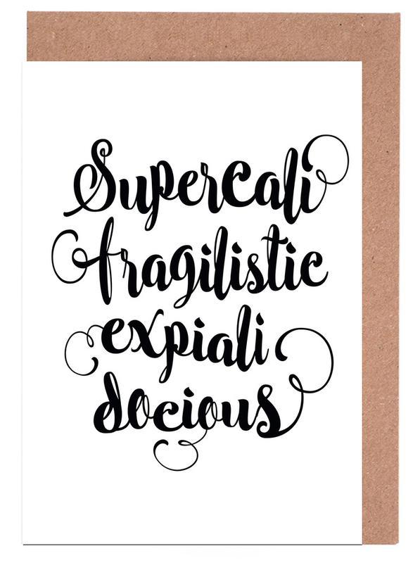 Supercalifragilisticexpialidocious Greeting Card Set