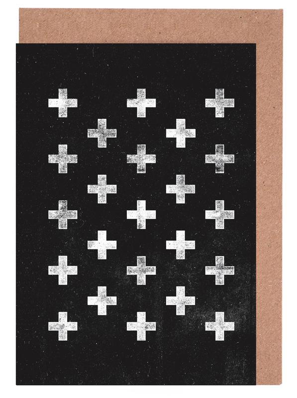 Swiss Cross Pattern cartes de vœux
