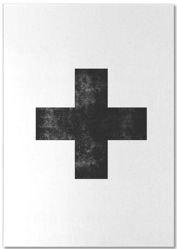 Swiss Cross White Notepad
