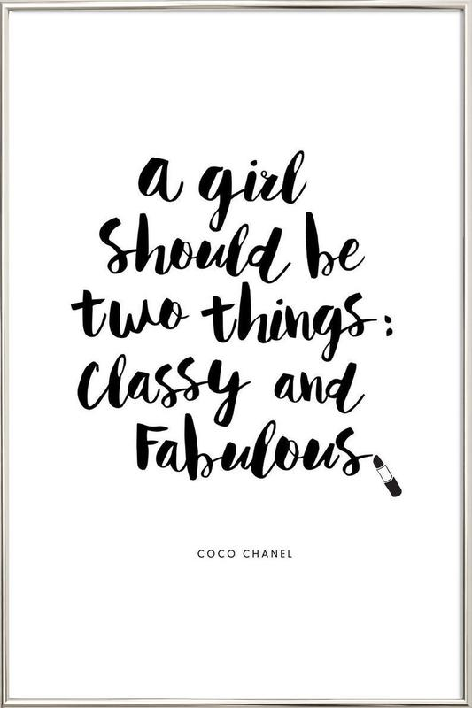 A Girl Should Be Two Things Poster in Aluminium Frame