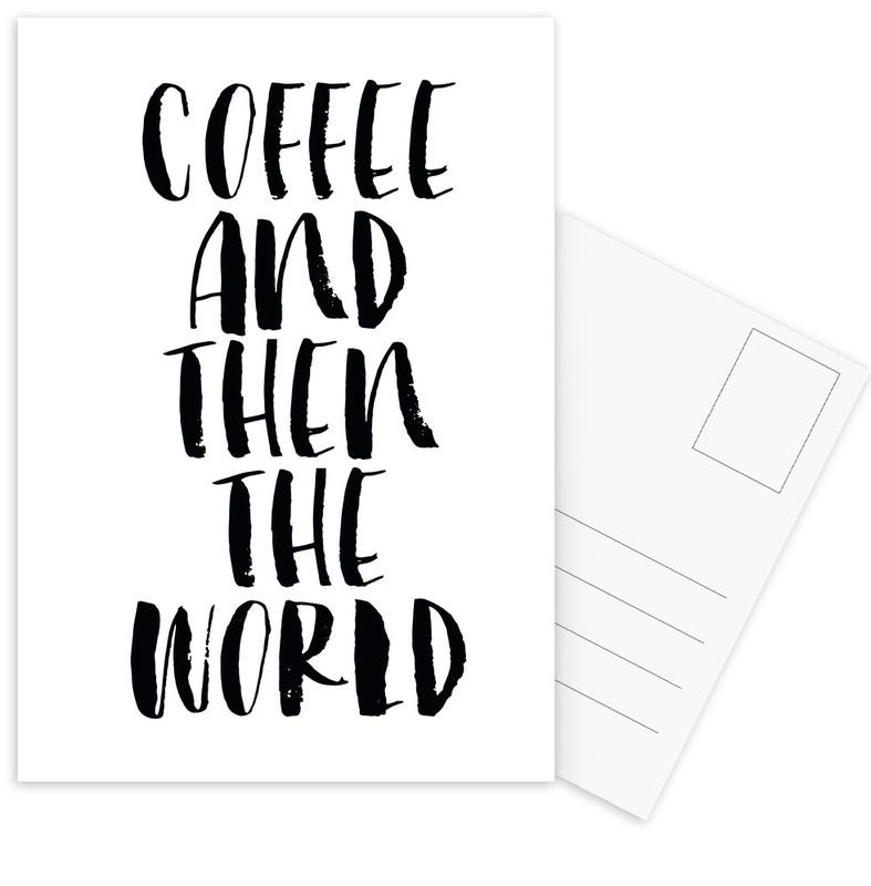 Coffee And Then The World Postcard Set