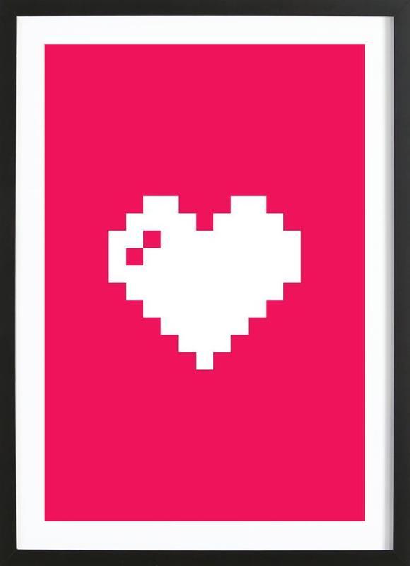 Digi Heart affiche sous cadre en bois