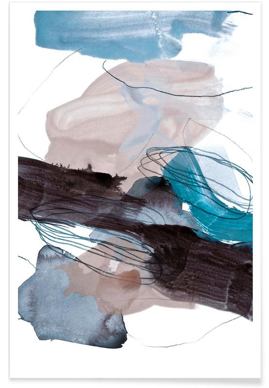 Abstract Blue and Grey Poster