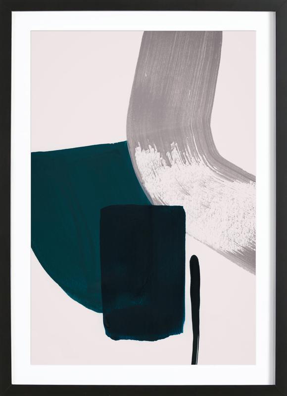 Minimalist Painting 02 affiche sous cadre en bois