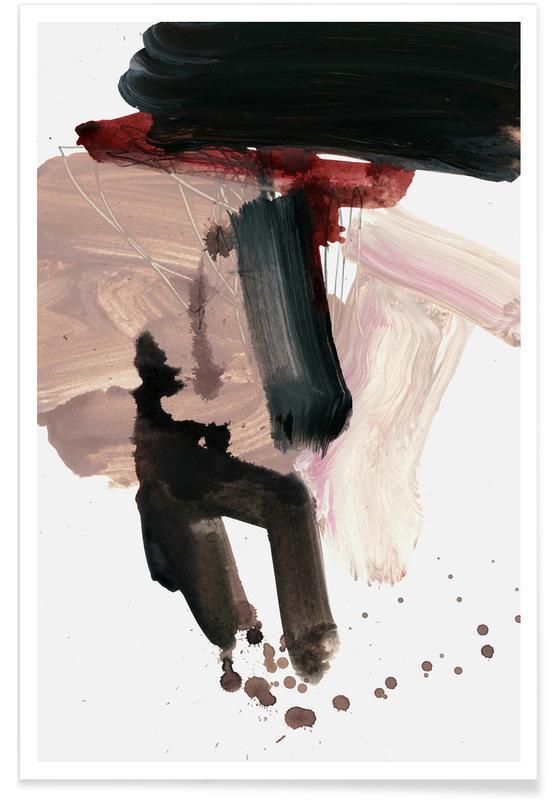 Gestural Brushstrokes 02 Poster