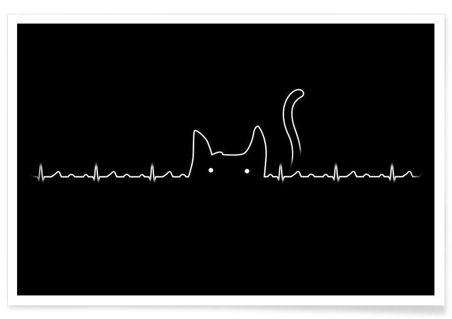 There is a cat in my heart poster
