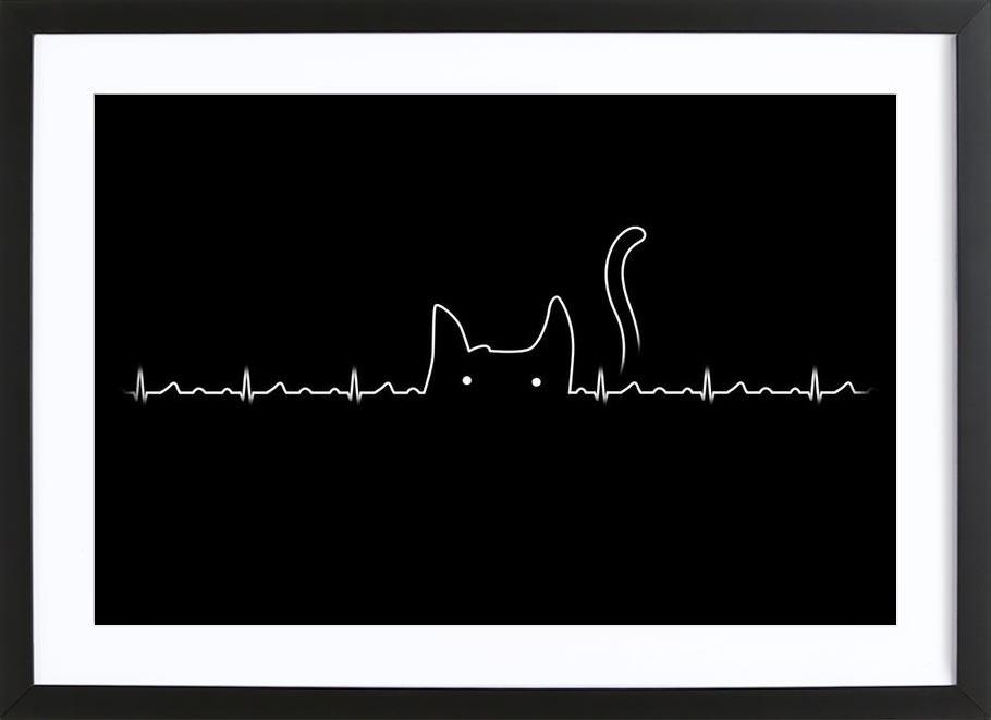 There is a cat in my heart Framed Print