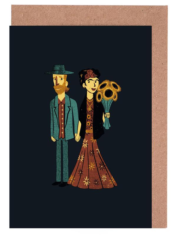 Love Is Art Frida Kahlo and Van Gogh Greeting Card Set