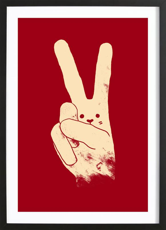 Love, Peace and Carrots ingelijste print