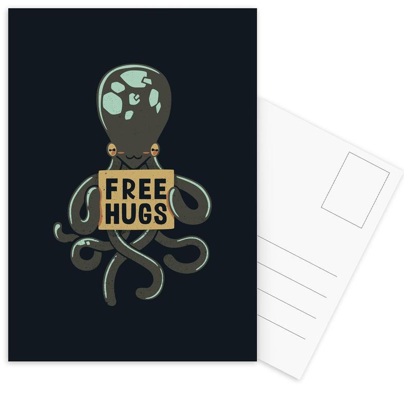 Free Hugs Octopus cartes postales