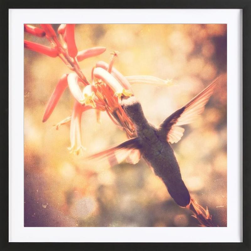 Angels flight -Bild mit Holzrahmen