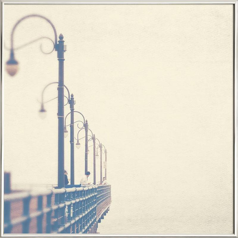 Meet me at the pier no. 1 Poster in Aluminium Frame