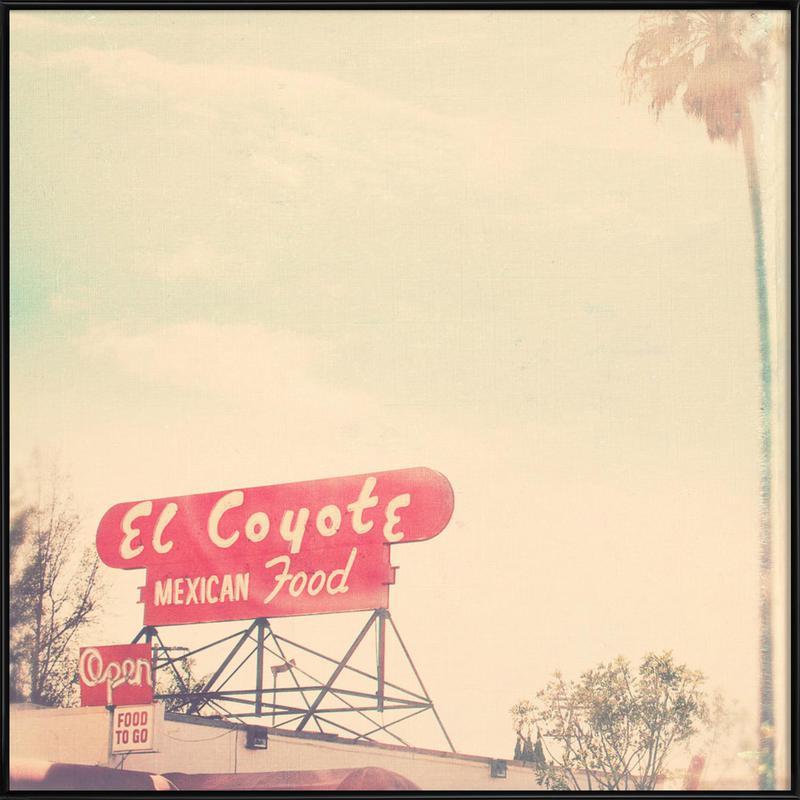 el coyote Framed Poster