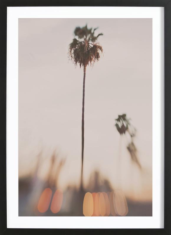 Dusk LA affiche sous cadre en bois