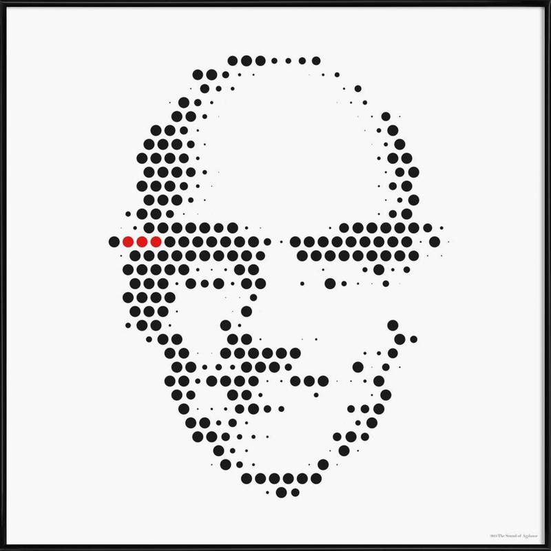 Michel Foucault in Dots Framed Poster