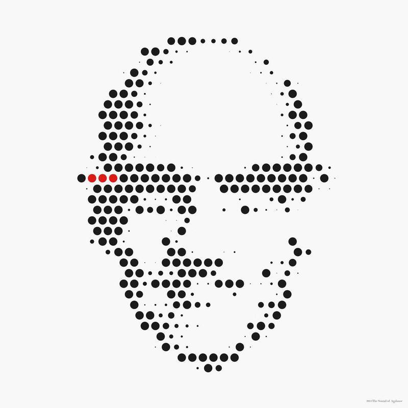 Michel Foucault in Dots Acrylic Print