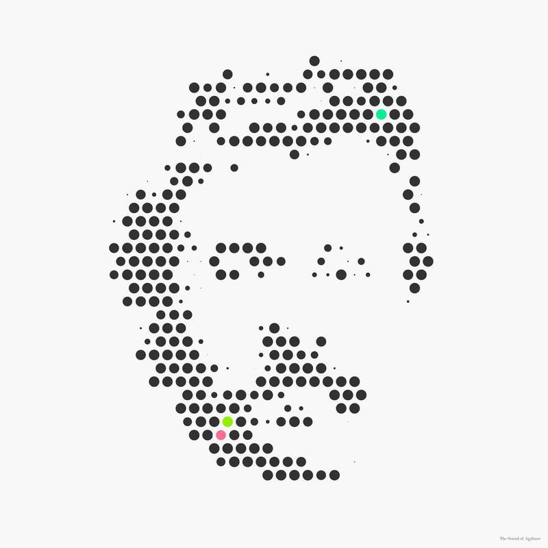Friedrich Nietzsche in Dots Aluminium Print