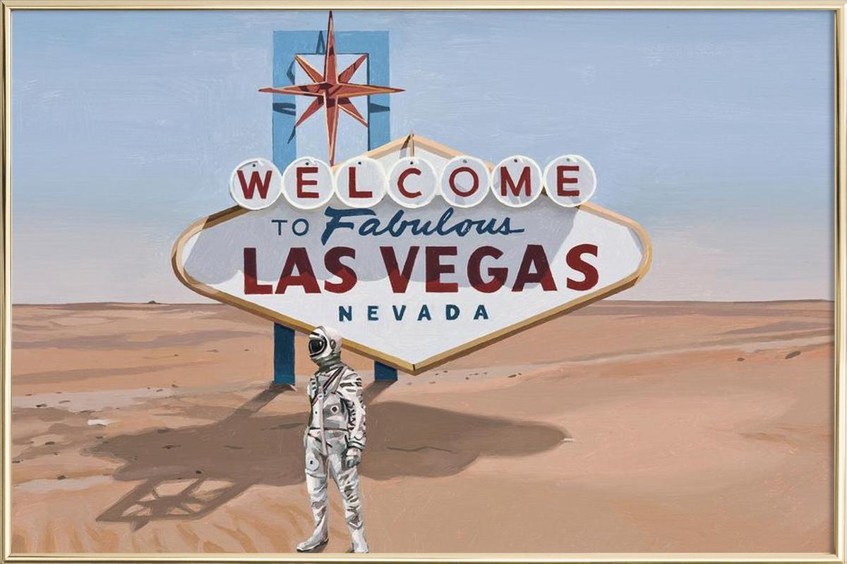 Leaving Las Vegas Poster in Aluminium Frame