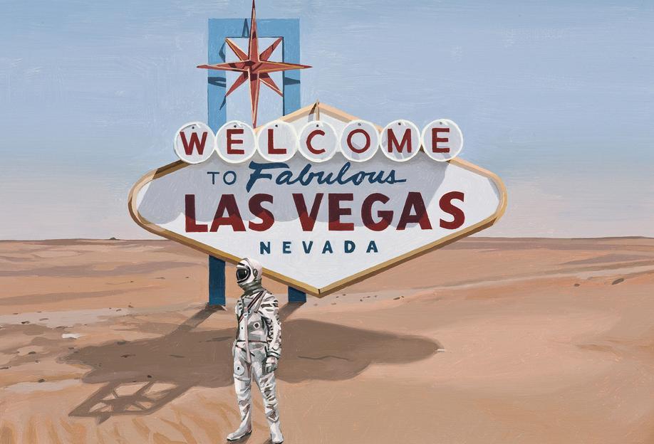Leaving Las Vegas Aluminium Print